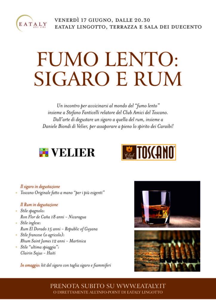 Fumo lento sigaro rum 17 giugno